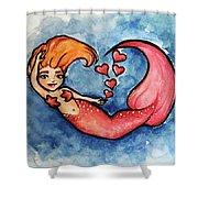 Redhead Mermaid Shower Curtain