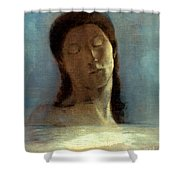 Redon: Closed Eyes, 1890 Shower Curtain