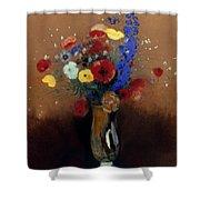 Redon: Wild Flowers, C1912 Shower Curtain