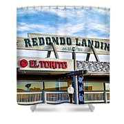 Redondo Beach Pier Closeup Shower Curtain