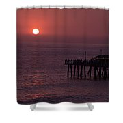 Redondo Beach Pier Shower Curtain