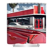 Reds Five And Dime Shower Curtain
