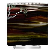 Redscape Shower Curtain