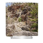Redstone Granite Quarry - Conway New Hampshire Shower Curtain