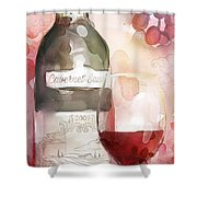 Redwinewatercolor Shower Curtain