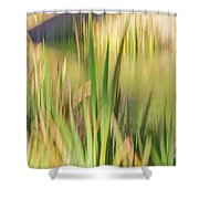 Reed Abstract II Shower Curtain