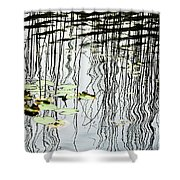 Reeds And Reflections Shower Curtain
