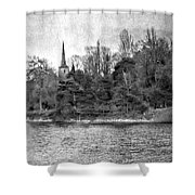 Reeds And Religion Black And White Shower Curtain