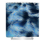 Reeds In Blue Shower Curtain