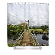 Reeth Swing Bridge Shower Curtain