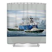 Refinery Tanker Escort Shower Curtain
