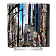 Reflected City Shower Curtain