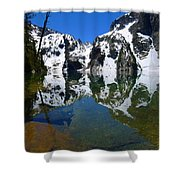Reflected Faces Shower Curtain