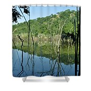 Reflected Lines Shower Curtain