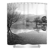 Reflected Trees Shower Curtain by Gaspar Avila