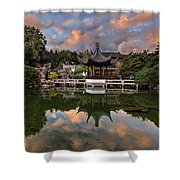 Reflecting At Chinese Garden Shower Curtain