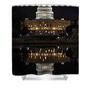 Reflecting At The Capitol Shower Curtain
