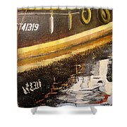 Reflecting Boat  Shower Curtain