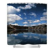 Reflecting On Crater Lake Shower Curtain