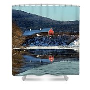 Reflecting On Farms By Connecticut Shower Curtain