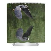 Reflecting On Flight Shower Curtain
