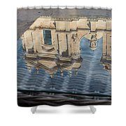 Reflecting On Noto Cathedral Saint Nicholas Of Myra - Sicily Italy Shower Curtain