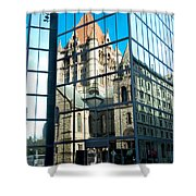 Reflecting On Religion Shower Curtain