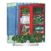 Reflecting Panes Shower Curtain