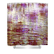 Reflecting Purple Water Shower Curtain