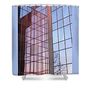 Reflecting Sundown Shower Curtain