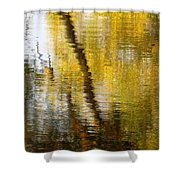 Fall Reflections 3 On Jamaica Pond Shower Curtain