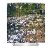Fall Reflections 4 On Jamaica Pond Shower Curtain