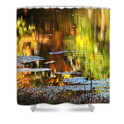 Fall Reflections 5 On Jamaica Pond Shower Curtain