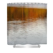 Fall Reflections 6 On Jamaica Pond Shower Curtain