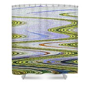 Reflection Abstract Abstract Shower Curtain