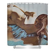 Nude Muse Reflecting Shower Curtain