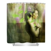 Reflection Shower Curtain by Andre Pillay
