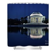 Reflection At Blue Hour Shower Curtain