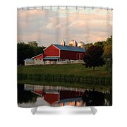 Reflection At Sunset Shower Curtain