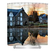 Reflection At Wagner Mill Shower Curtain