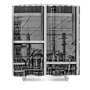 Reflection Shower Curtain by DJ Florek