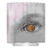 Reflection In A Golden Eye Shower Curtain