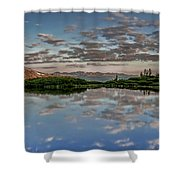 Reflection In A Mountain Pond Shower Curtain