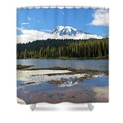 Reflection Lakes In Mount Rainier National Park Shower Curtain