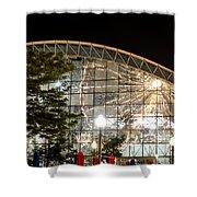 Reflection Of Navy Pier Ferris Wheel Shower Curtain
