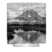 Reflection Of Signal Mountain Shower Curtain
