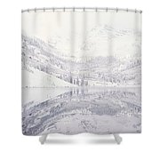 Reflection Of Snowcapped Mountains Shower Curtain