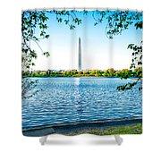 Reflection Of Washington Shower Curtain