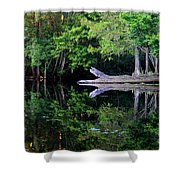 Reflection Off The Withlacoochee River Shower Curtain
