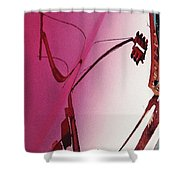 Reflection On A Red Automobile Shower Curtain